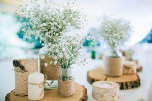 Hand Made Wedding Decoration, flowers, woodv