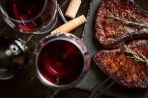 steaks from fresh meat