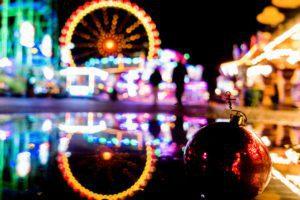 Christmas-market, amusement market at night