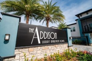 The Addison at Universal Boulevard entry