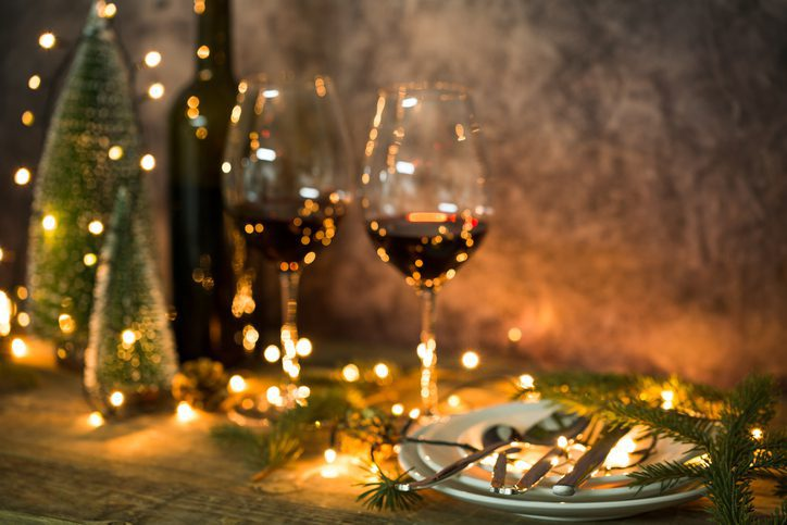 Christmas table, Selective focus