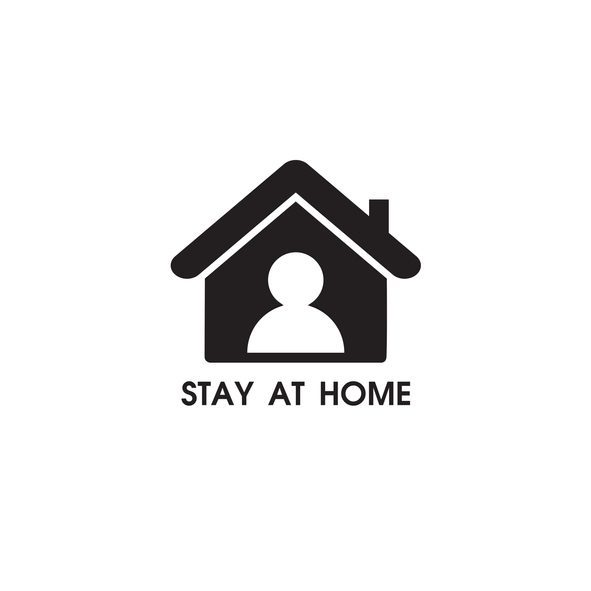 Stay at home sign. vector illustration on white background.