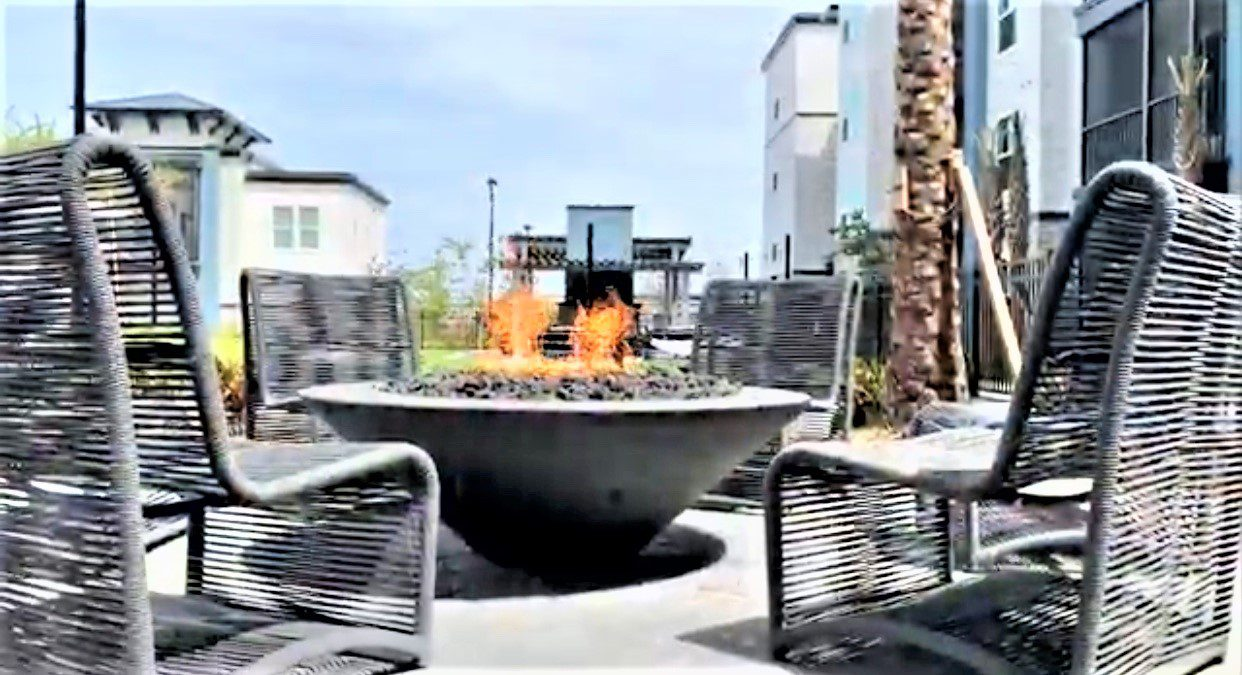 The Addison at Universal Boulevard Fire Pit at Pool