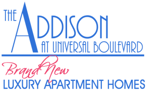 Brand New Apartments The Addison at Universal Blvd logo